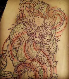 Amsterdam TATTOO 1825 KIMIHITO Dragon Japanese style tattoo design
