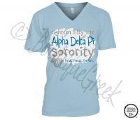 Alpha Delta Pi Seek Tee - ΑΔΠ Collection. Design Exclusive to BoutiqueGreek.com