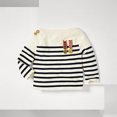 Tommy Hilfiger Cropped Sailor Jumper - navy blazer-pt/ multi (Blue) - Tommy Hilfiger Jumpers - main image
