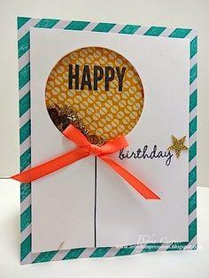SU!  Celebrate Today stamp set; Birthday Bash DSP; Balloon Framelits; Night of Navy Ink - Debra Currier