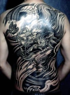 50 chinese dragon tattoo designs for men - flaming ink ideas . - - 50 chinese dragon tattoo designs for men – flaming ink ideas … – 50 chinese - Back Tattoos For Guys, Full Back Tattoos, Full Tattoo, Dragon Head Tattoo, Dragon Tattoo For Women, Tribal Tattoo Designs, Dragon Tattoo Designs, Head Tattoos, Body Art Tattoos