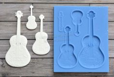 Best Quality Silicone Mold Guitars Crafts Decoration Decorating CandyARTMD0140
