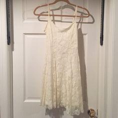 Off white lace dress Off white lace dress, zipper on the side Poof! Dresses Mini