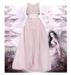 """Princess dress"" by justange ❤ liked on Polyvore featuring Georges Hobeika"