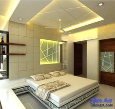 New modern false ceiling designs 2019 for bedroom with LED lights and how to make stylish bedroom false ceiling design, suspended ceiling and stretch ceiling with different materials, the best false ceiling designs and ideas for bedroom 2019 Best False Ceiling Designs, House Ceiling Design, Ceiling Design Living Room, Bedroom False Ceiling Design, False Ceiling Living Room, Home Ceiling, Bedroom Ceiling, Living Room Designs, Fall Ceiling Designs Bedroom