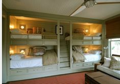 Built in bunks! Loooove these color and all!