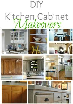 Budget minded tips for updating kitchen cabinetry from around the web at Remodelaholic.