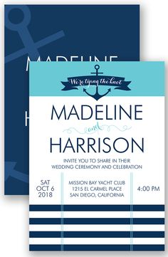 Tying the Knot Wedding Invitation by David's Bridal