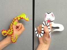 marionnette à doigt à imprimer