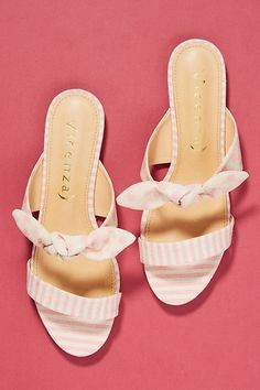 6aed2c5939 Vicenza Striped + Dotted Slide Sandals Flat Sandals, Slide Sandals, Shoes  Sandals, Shoe