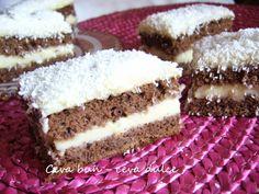 Adela Zilahi: Prajitura cu crema de budinca si cocos Food Cakes, Tiramisu, Cake Recipes, Cheesecake, Ethnic Recipes, Desserts, Cakes, Tailgate Desserts, Deserts