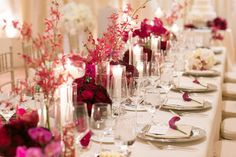 Vibrant floral shapes and pops of pink and red create the most romantic spreads at @Mandy Dewey Seasons Resort The Biltmore Santa Barbara.