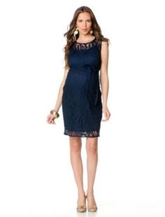 A Pea in the Pod: Sleeveless Lace Maternity Dress A Pea in the Pod. $149.50