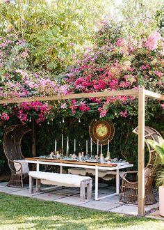 Pergola With Roof, Backyard Pergola, Small Backyard Landscaping, Backyard For Kids, Landscaping Ideas, Small Patio, Outdoor Pergola, Rose Landscaping, Acreage Landscaping