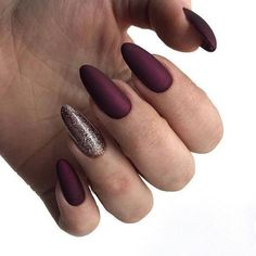 A manicure is a cosmetic elegance therapy for the finger nails and hands. A manicure could deal with just the hands, just the nails, or Gel Nagel Design, Winter Nail Designs, Super Nails, Almond Nails, Acrylic Nails Almond Matte, Blue Nails, Gradient Nails, Burgundy Matte Nails, Maroon Nails