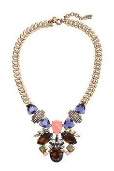 Faux Stone Bib Necklace