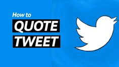 How To Quote A Tweet On Twitter Twitter Tips, Social Media Apps, Tweet Quotes, Youtube, Youtubers, Youtube Movies