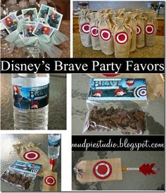 Disney Brave Party Favors (also included pumpkin recipes, and bathroom ideas) (from mud pie studio)