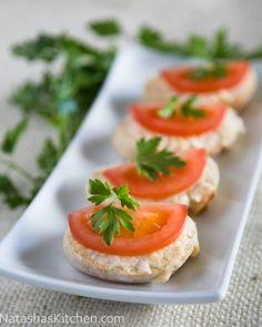 Gouda and Tomato Tea Sandwiches