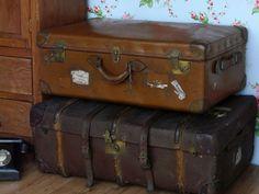 Antique travel suitcase