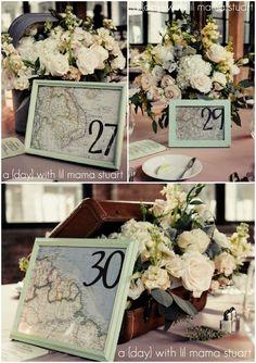 Travel Themed Wedding - DIY Details