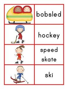 Winter Olympics- Sports Matching Game