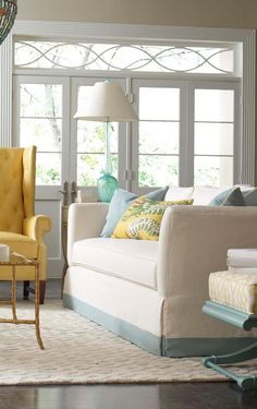 Beautiful transom,   House of Turquoise:  CR Laine Furniture