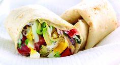 Egg and avocado tortilla wraps | Egg Recipes | eggrecipes.co.uk