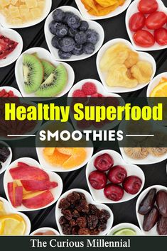 Smoothies are an extremely healthy food option. Especially superfood smoothies, which are great for weight loss, and make a great breakfast option. Smoothies make a great meal replacement option as well as a great post workout meal option. They are an excellent meal option for kids as well. Try the 3 easy and healthy superfood smoothies recipes that are included in this post. #smoothies #healthysmoothierecipes #healthyeating #healthyliving