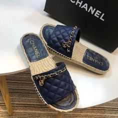 We've got you covered with our one designer piece of assortment of the ultimate in feisty heeled footwear. Chanel Fashion, Fashion Shoes, Shoe Boots, Shoes Heels, Flats, Chanel Brand, Cute Slippers, Black Strappy Heels, Sandals Outfit