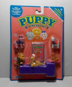 VTG PUPPY IN MY POCKET HASBRO FASHION PUPPIES 1994 EUROPEAN MOSC #Hasbro