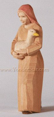 Woman with Goose - Huggler Nativity   - New for 2016