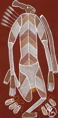 """""""Mimi Yidaki Spirit"""" by Edward Blitner 33cm x 70cm  SOLD"""
