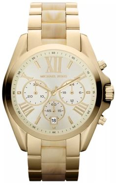 New Michael Kors Women's Bradshaw MK5722 White Stainless-Steel Quartz Watch #MichaelKors #Dress