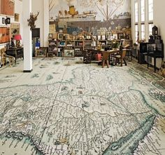 I always wanted a map that covered an entire wall...I was clearly not thinking big enough...