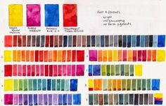 Jane Blundell: Colour exploration - 4 bright, non-granulating watercolours - an amazing quartet. (updated) !
