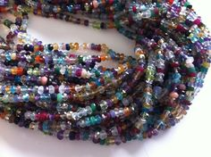 Full Strand of Multi Mix Gemstones All Natural-- --Faceted 2-3mm Approx -Great Cut,Color and Clearity.... by BeadMall on Etsy