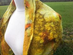 Detail from nuno felt top   by Clasheen