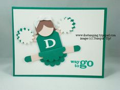 cheerleader card using stampin' up! punches