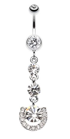 Vivacious Crystals Belly Button Ring #BellyRing #BodyMod #BodyModification #Piercings