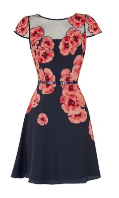 Coast Zurie Dress with Floral Print and Cap Sleeves. Pretty Outfits, Pretty Dresses, Beautiful Dresses, Cool Outfits, The Cardigans, Style Feminin, Look Fashion, Womens Fashion, Jw Fashion