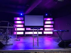 Coroplast Colored Duct Tape Church Stage Ideas
