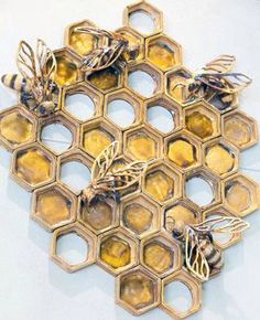 gold honeycomb