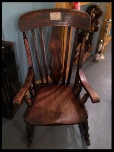 19th Century Elm Farmhouse Rocking Chair x #annaflorence #vintageinteriors
