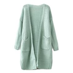 Caleigh Oversized Knit Cardigan (155 SAR) ❤ liked on Polyvore featuring tops, cardigans, outerwear, jackets, knit top, open front cardigan, checkered top, oversized cardigans and green top