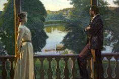"Richard Bergh - Nordic Summer Evening "" 1899-1900 / oil on canvas / 170 cm × 223.5 cm / Gothenburg Museum of Art (Gothenburg, Sweden) """