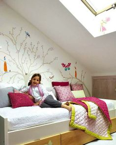 girls bedroom design, attic kids rooms