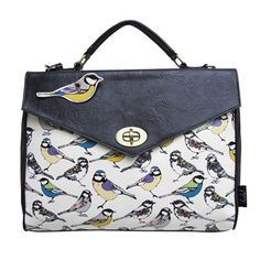 This beautiful satchel from the new Hola bird range by Disaster Designs features a birds print design The faux leather has roses inprinted on it This