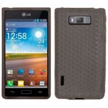 Custodia MiniGel Diamonds LG Optimus L7 - Nero