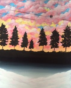 """Last Light"" acrylic painting by jonna wormald for Paint Nite"
